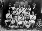 English: Soccer team from Cairns, ca. 1893 First soccer team. (Description supplied with photograph.).