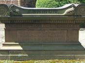 Monument at Jehudi Ashmun's grave in New Haven, Connecticut