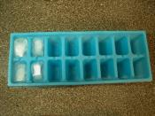 Ice cubes in a tray