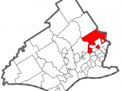 Showing the location within Delaware County, Pennsylvania.