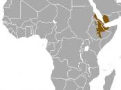 English: Hamadryas Baboon (Papio hamadryas) range
