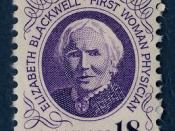 English: u.s. postage stamp of 1974, depicting Elizabeth Blackwell Français : Timbre des Etats-unis de 1974, portrait de Elizabeth Blackwell