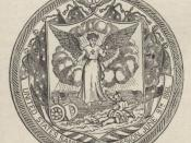 Illustrations de Roughing It, 1872. Seal of the United States Sanitary Commission
