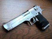 English: Desert Eagle 50 caliber brushed chrome