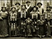Family In Lanchow, China 1944 Fr. Mark Tennien Restored