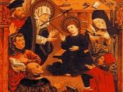 Hussite theologians disputes in the presence of King Władysław II Jagiełło.