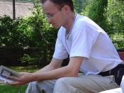 Michal Čagánek čte svou prózu