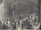 English: Title: Torture Chamber of the Inquisition. From 'A Complete History of the Inquisition', Westminster, London 1736