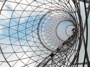 Shukhov Tower in Moscow – the Hyperboloid lattice thin shell by Vladimir Shukhov, 1922.