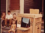 JOBS DREW THESE CHILDREN'S PARENTS FROM WEST VIRGINIA TO AN APARTMENT IN THIS SUB-DIVIDED OLD HOUSE ON LITERARY AVENUE - NARA - 550137