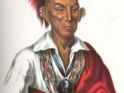 Sauk Chief Makataimeshekiakiah, or Black Hawk