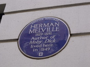 Also at the end of Craven Street, at no 25 is the former home of Herman Melville - author of Moby Dick. He lived here in 1849.
