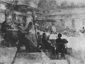 English: Vienna Philharmonic Orchestra at the rehearsal (Felix von Weingartner conducting)