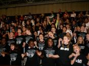 The Spirit Club cheers at the annual