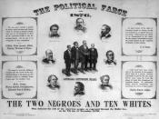 The election was hotly contested, as can be seen by this poster published in 1877