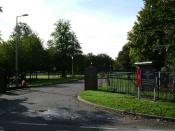 English: This is the gate to the Military Corrective Training Centre at Berechurch Camp in Colchester, Essex. The inmates are referred to as Servicemen Under Sentence, not prisoners. The MOD maintains this is not actually a prison as in civilian life many