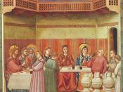 Marriage at Cana by Giotto, 14th century