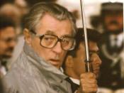 Français : Robert Mitchum au festival de Cannes.