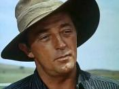 Screenshot of Robert Mitchum from the trailer for the film The Sundowners