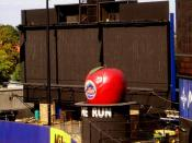 The Home Run Apple in Shea Stadium, New York, home of the New York Mets baseball team
