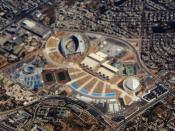 Aerial view of Athens Olympic Sports Complex.