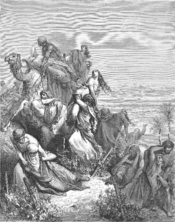English: The Benjaminites Take the Virgins of Jabesh-gilead (Jud. 21:15-25) Русский: Сыны Вениамина похищают девиц в Силоме (Суд. 21:15-25)