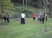English: Learning martial arts in Cristina Enea, Donostia.