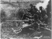 English: A detachment of French infantry with two St. Étienne Mle 1907 machine guns.