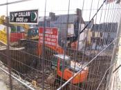 English: Site of Sally O'Brien's Pub, Omagh Looking towards James Street