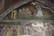 English: Sterzing, the Holy Spirit church frescos, on the northern wall, representing the Passion of Christ.
