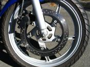 Disc brake on a motorcycle