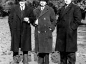 English: Ivan Pavlov, Camille Soula and Archibald Hills 1933 Français : Ivan Pavlov, Camille Soula and Aarchibald Hills 1933