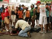 Português: Jovem é morto com um tiro na cabeça em posto de gasolina no Andaraí - Felipe Barbosa Mendes de 22 anos, funcionário de uma cooperativa de moto-táxis, foi assassinado enquanto abastecia sua moto em um posto de gasolina na esquina das ruas Galvão