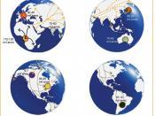 English: Mitocondrial Analisys for pre-historical human migration Português do Brasil: Mapa baseado na análise mitocondrial das migrações humanas pré-históricas