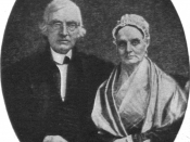 English: Deguerreotype portrait of Lucretia and James Mott sitting together.