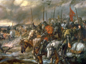 English: Morning of the Battle of Agincourt, 25th October 1415