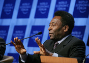 English: Edson Arantes do Nascimento (Pele), World Cup Soccer Champion and Director, Empresas Pele, Brazil captured during the session 'Can a Ball Change the World: The Role of Sports in Development' at the Annual Meeting 2006 of the World Economic Forum