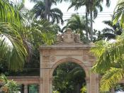 Entrance to Quinta da Boa Vista gardens and Zoological Park of Rio de Janeiro, Brazil