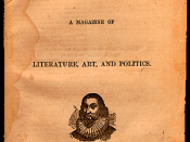 First cover of The Atlantic Monthly magazine. November 1857.