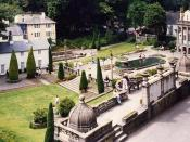 English: A part of Portmeirion, the real-life filming location for exterior shots of the Village, the fictional setting of the 1960s UK television series The Prisoner.