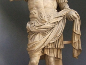 English: Statue of Emperor Domitian, Vatican Museums, . The head may have been recut from Nero.