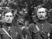 (future) King Leopold III (left), with King Albert I