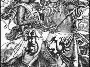 Sir Kay breaketh his sword at ye Tournament