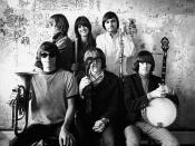 Jefferson Airplane photographed by Herb Greene at The Matrix club, San Francisco, in 1966. A cropped version was used for the front cover of Surrealistic Pillow.