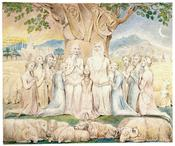 English: Job and His Family, by William Blake.