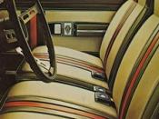 The interior of the AMC Hornet Sportabout with the Gucci package