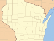 Locator Map of Wisconsin, United States