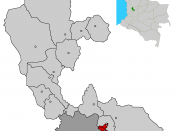 Image depicting map location of the city and municipality of Pereira in Risaralda Department, Colombia