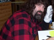 Mick Foley at book signing at an Easons store in Dublin, Ireland.