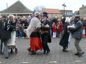 English: Molly dance side in action at Whittlesea Straw Bear Festival 2007 in Whittlesey, Cambridgeshire, UK.